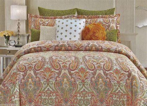orange paisley comforter cynthia rowley king paisley medallion teal red green