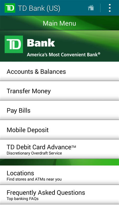 us bank na code td bank us appstore for android