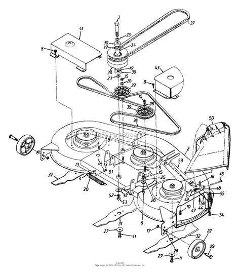 mtd lawn mower parts diagram mtd 135t696h190 lawn tractor lt 165 1995 parts diagram