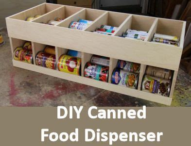 diy canned food storage rack  build  attractive