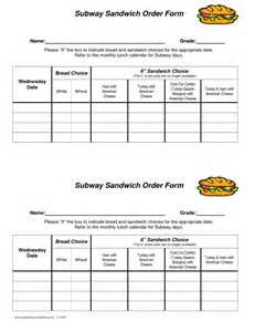 Free Printable Subway Template by 6 Best Images Of Printable Subway Order Sheet Printable