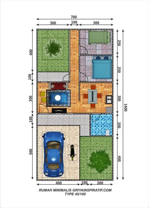 20 Desain Inspiratif Rumah Tumbuh Tipe 21 36 M2 denah rumah minimalis type 100 images rumah minimalis