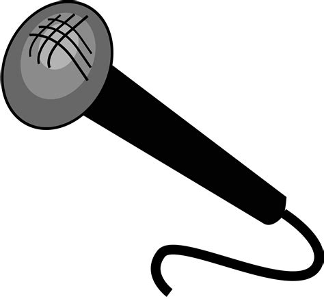 microphone clipart microphone clipart black and white clipart panda free