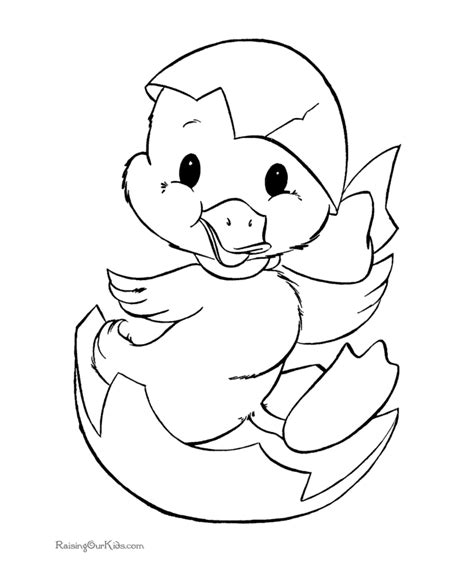 cute easter coloring page 006
