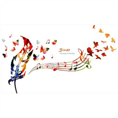 Musical Note Wall Stickers musical notes wallpapers promotion shop for promotional