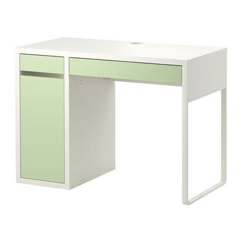 Micke Bureau Blanc Vert Clair Ikea 69 99 Office Micke Desk White