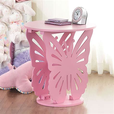 childrens butterfly bedroom accessories children s wooden butterfly table round side end l
