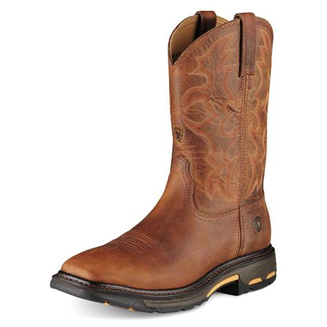 ariat mens workhog square toe boots