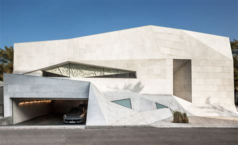 Folded Paper House - in residence agi architects origami house in kuwait