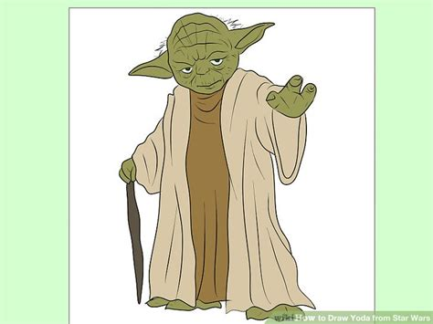 Drawing Yoda by How To Draw Yoda From Wars 7 Steps With Pictures