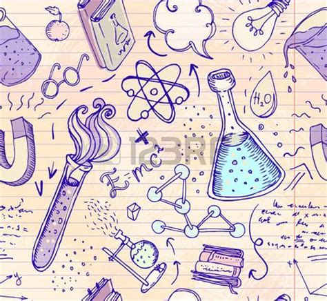 pattern lab themes back to school science lab objects doodle vintage style