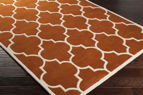 Orange And White Rugs by Orange Trellis Rug Orange And White Area Rug