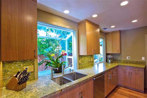 kitchen garden windows Kitchen Tropical with bay window