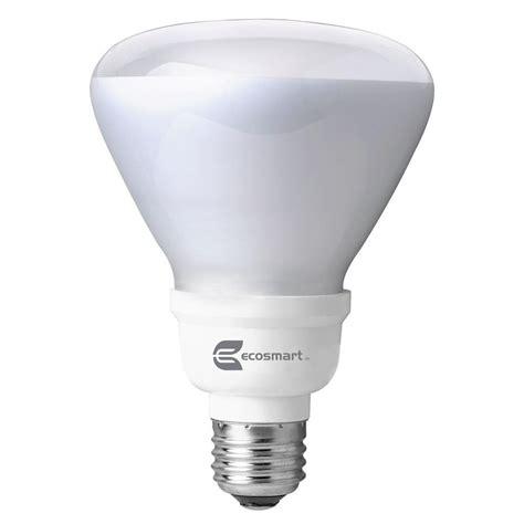 Cfl Flood Light Outdoor Ecosmart 65w Equivalent Daylight 5000k R30 Cfl Flood Light Bulb Es5r31650k The Home Depot