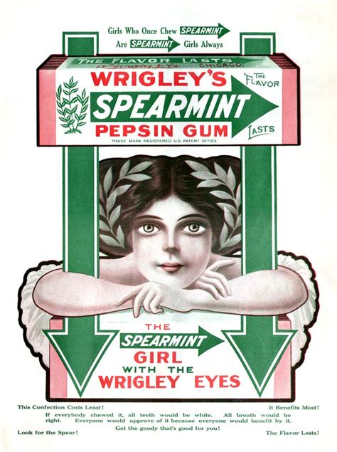 wrigley s spearmint gum 1911a