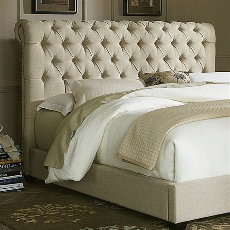 linen upholstered headboards shop liberty furniture chesterfield natural king linen