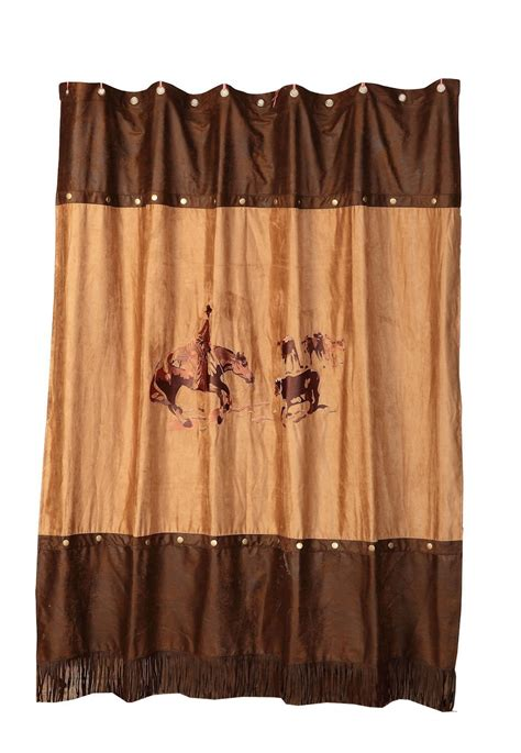 rodeo curtains rodeo cutting horse shower curtain