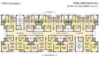 Free Floor Plans Dwarka Chakan Sector 1b 1bhk Flat Compact A 7 Floor