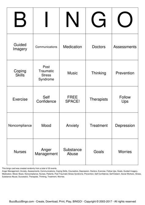 anger management bingo cards printable anger management bingo cards to download print and customize