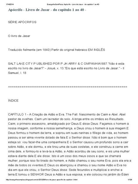 EvangelhoSemPlaca_ Apócrifo - Livro de Jasar - do capitulo