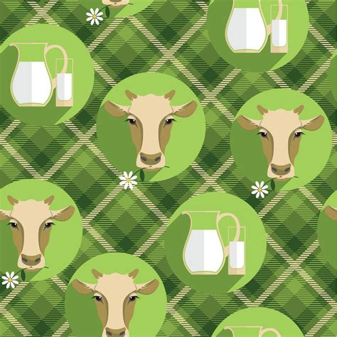 pattern illustrator cow vector flat design illustration of cow seamless pattern