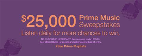 Music Sweepstakes - last chance amazon prime music sweepstakes listen to music for chance to win