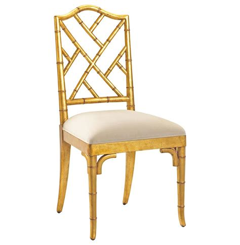Bamboo Chairs Dining Chippendale Regency Gold Bamboo Dining Chair Kathy Kuo Home