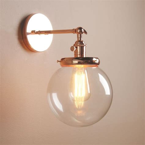 glass wall light shades best 25 industrial wall lights ideas on
