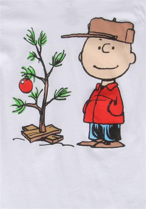 large charlie brown christmas tree juniors brown tree t shirt