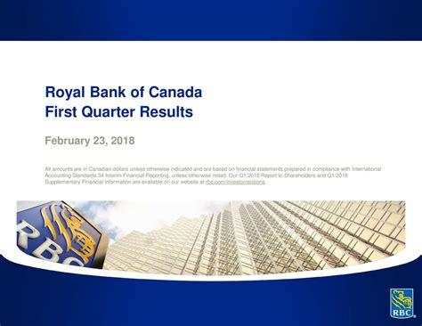 royal bank of canada nyse royal bank of canada 2018 q1 results earnings call