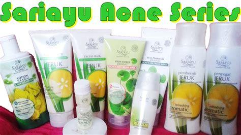 Pelembab Sariayu Untuk Jerawat skincare sariayu acne series perawatan untuk wajah