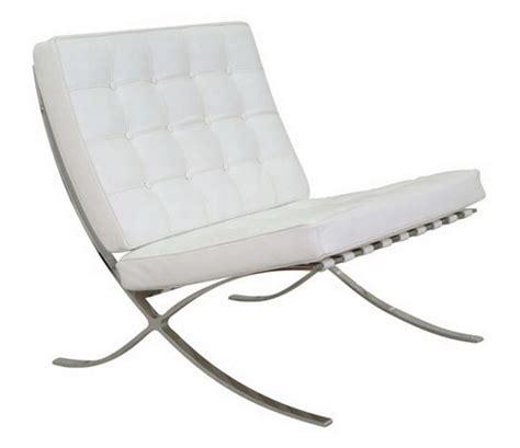 sillon barcelona barato silla barcelona acero inoxidable piel top blanca