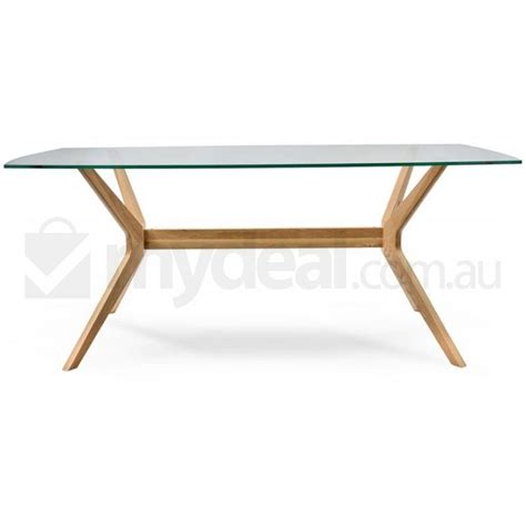Oak Dining Table With Glass Top Nora Retro Oak Dining Table With Glass Top Buy Dining Tables