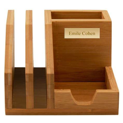 bamboo desk organizer bamboo desktop organizer