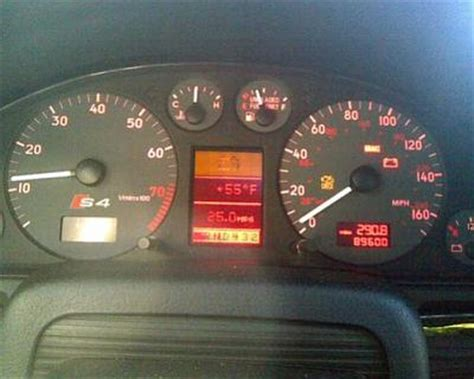 audi a4 dashboard warning lights damn audi all dash warning lights on limp home in fourth