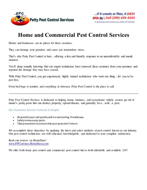 Pest Letter Template Hamilton Home And Commercial Pest Services