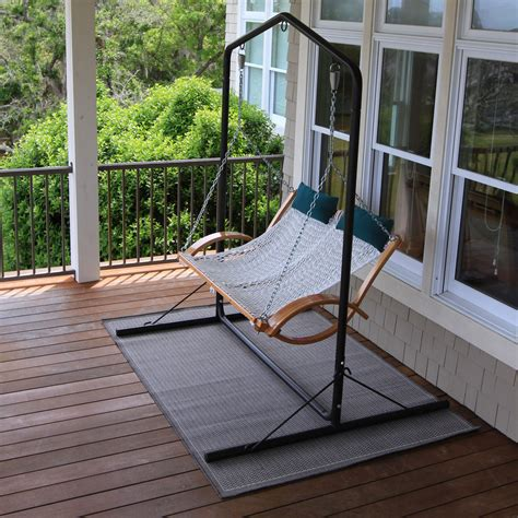 hammock porch swing curved arm double rope swing sw op pawleys island