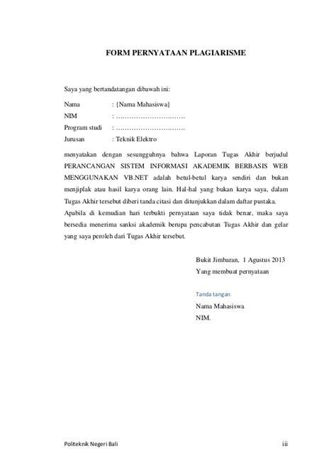 format laporan skripsi teknik informatika contoh laporan tugas akhir ta