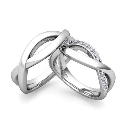 matching wedding bands infinity wedding ring in