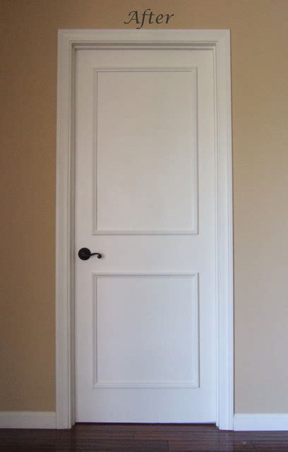 Two Panel Interior Door Two Panel Raised Door Moulding Kit Traditional Interior Doors Los Angeles By Luxe