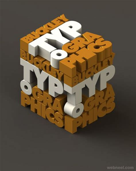 3d typography best 3d typography design 2 image