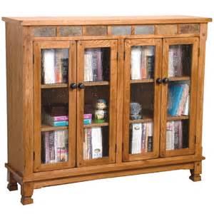 sd 2813ro sedona rustic oak 42 quot h bookcase with doors oak