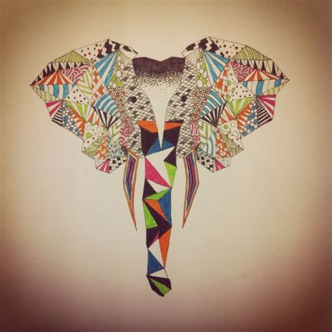 pattern elephant art geometric pattern elephant illustration mainly moz art