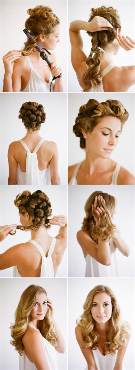 curling hair tutorial for med hair wedding hairstyles for long hair tutorial once wed