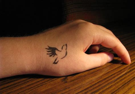 25 Lively Small Bird Tattoos Creativefan Bird Outline Wrist