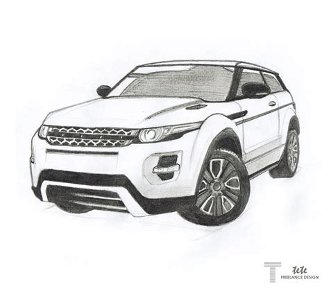 land rover discovery drawing range rover evoque drawing by ifaze on deviantart