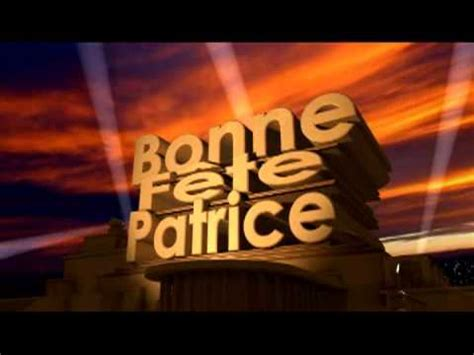 bonne fete patrice youtube