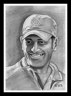 M S Dhoni Sketches by Baby Pencil Portraits Cerca Con Bambini