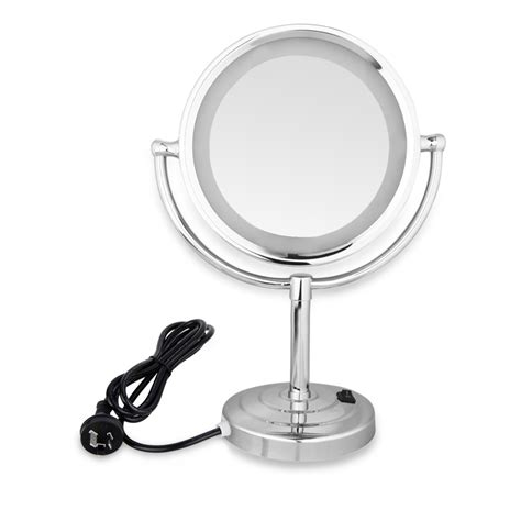 bathroom shaving mirror with light new double side make up shaving mirror on stand bathroom