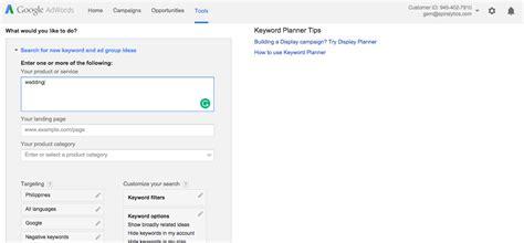 adsense keywords planner 10 free online tools that make a writer s life easier